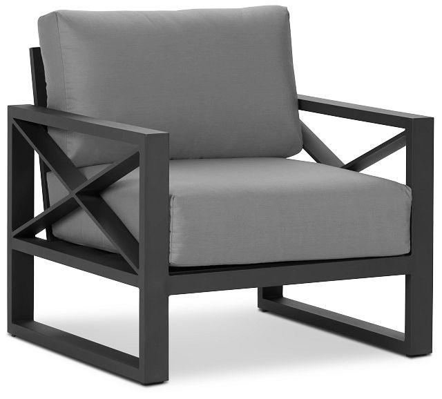 Linear Dark Gray Aluminum Chair (0)