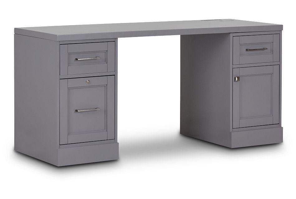 Newport Gray Writing Desk,  (2)