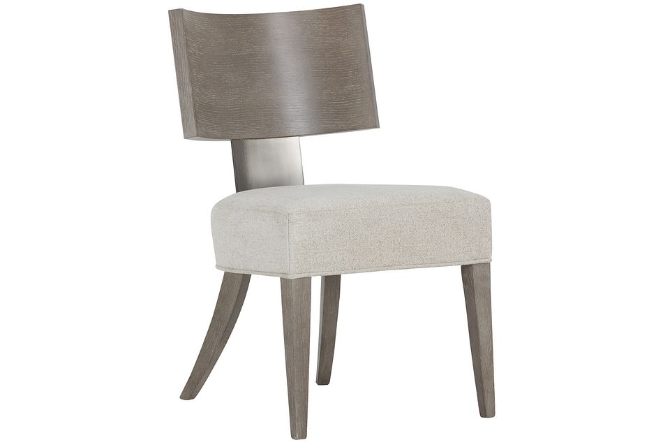 Mosaic Light Tone Curved Wood Side Chair,  (0)