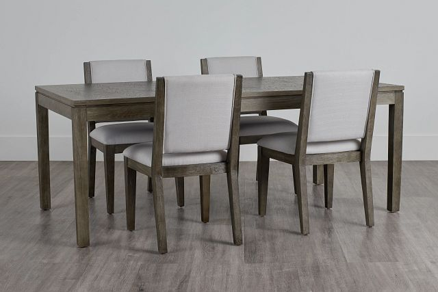 Bravo Dark Tone Rect Table & 4 Upholstered Chairs (0)