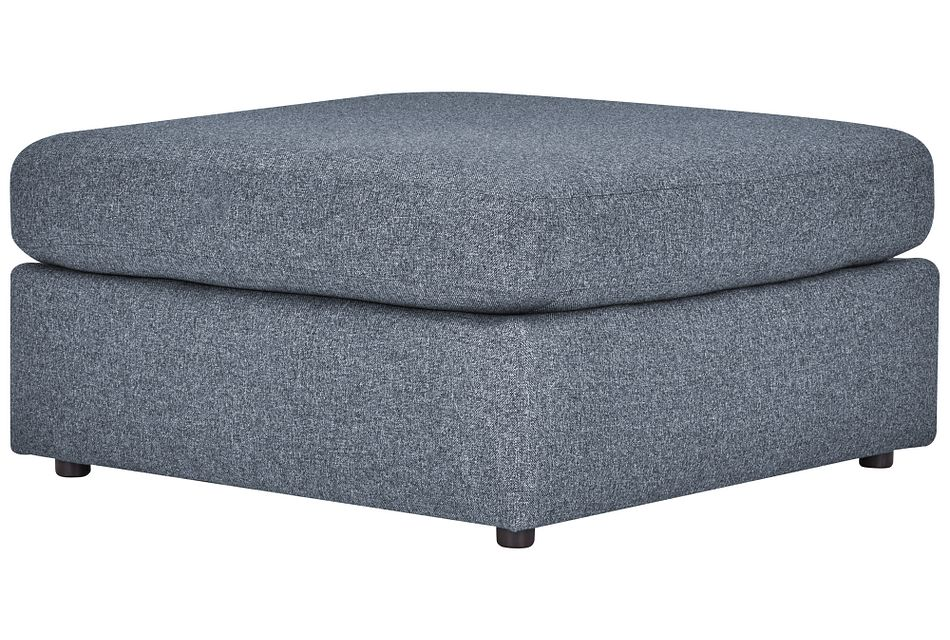 Noah Dark Gray Fabric Cocktail Ottoman