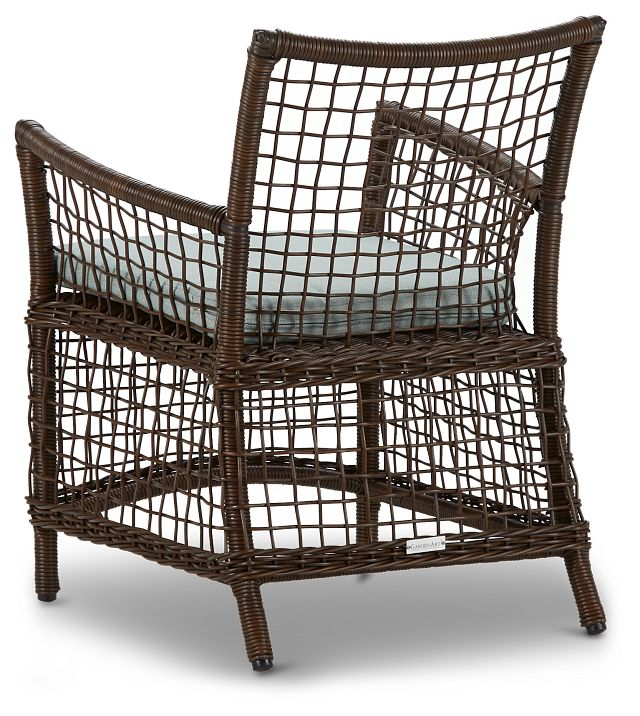 Southport Teal Woven Arm Chair (2)