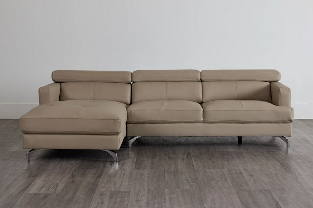 Marquez Taupe Micro Left Chaise Sectional (0)