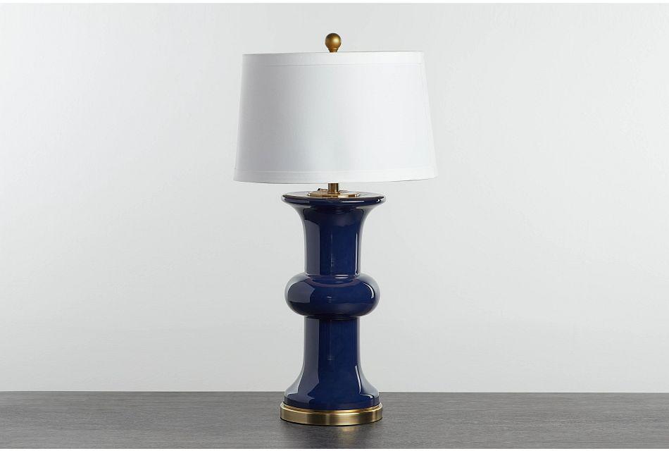 Warwick Dark Blue Table Lamp