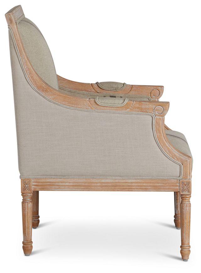Mckenna Beige Fabric Accent Chair (2)