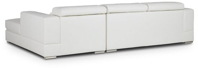 Maxwell White Micro Right Chaise Sectional