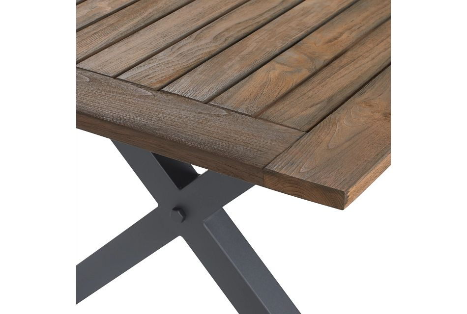 "Canyon Dark Brown White 72"" Rectangular Table & Mixed Chairs"
