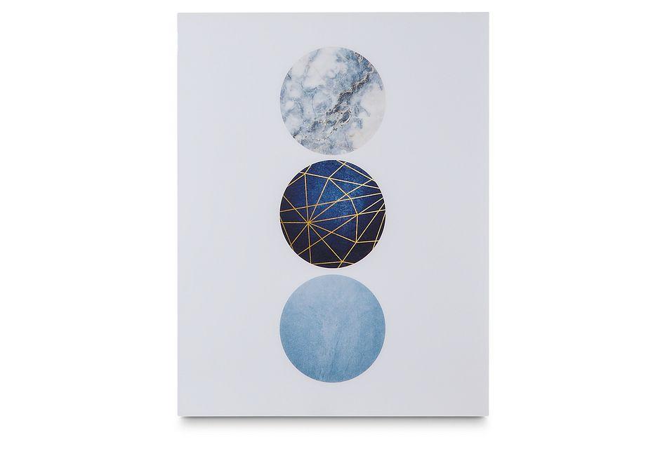 Odeta Dark Blue Acrylic Wall Art