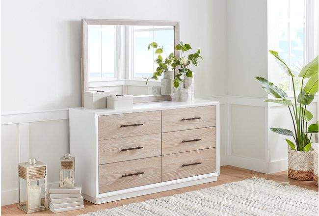 Boca Grande Two-tone Dresser & Mirror