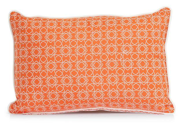 """Valley Orange 13"""" Indoor/outdoor Rectangular Accent Pillow (1)"""