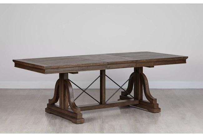 Heron Cove Mid Tone Trestle Table
