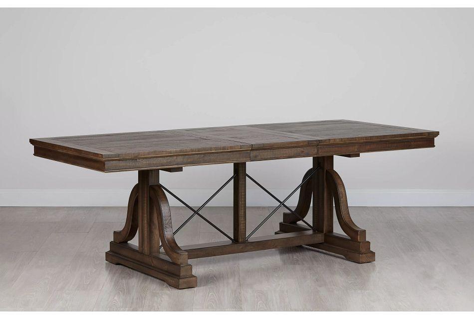 Heron Cove Mid Tone Trestle Table,  (0)