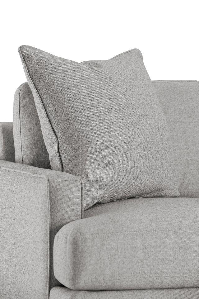 Morgan Light Gray Fabric Chair With Wood Legs