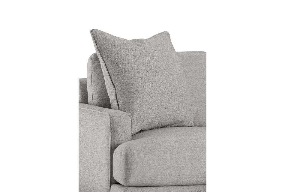 Morgan Light Gray Fabric Chair With Wood Legs