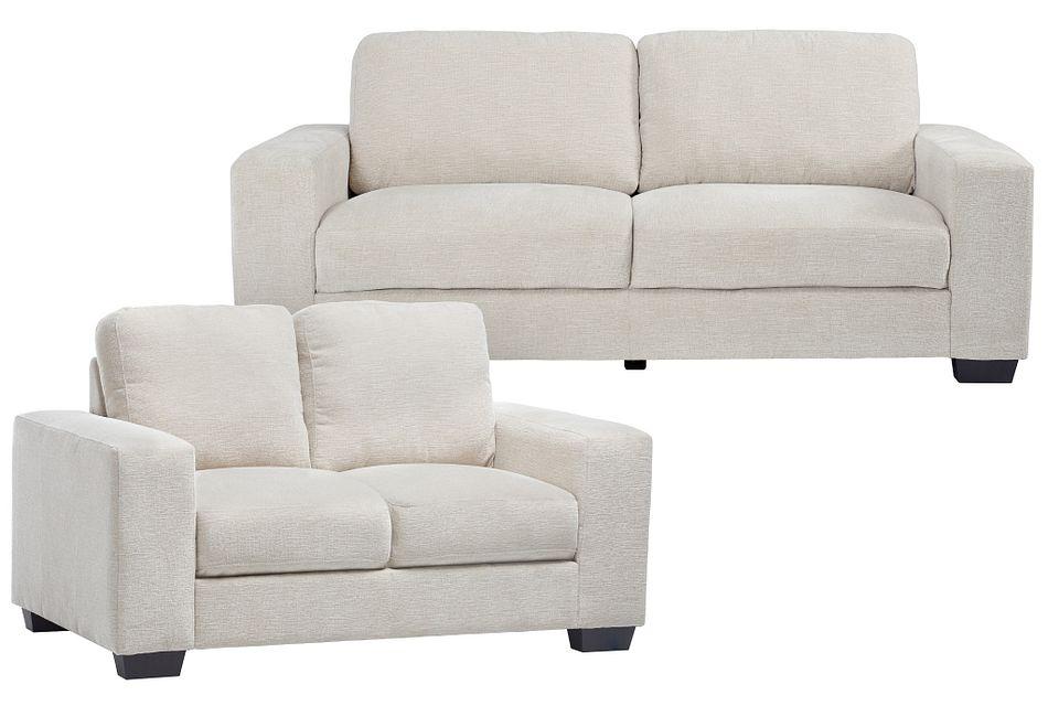 Estelle Beige Fabric Living Room
