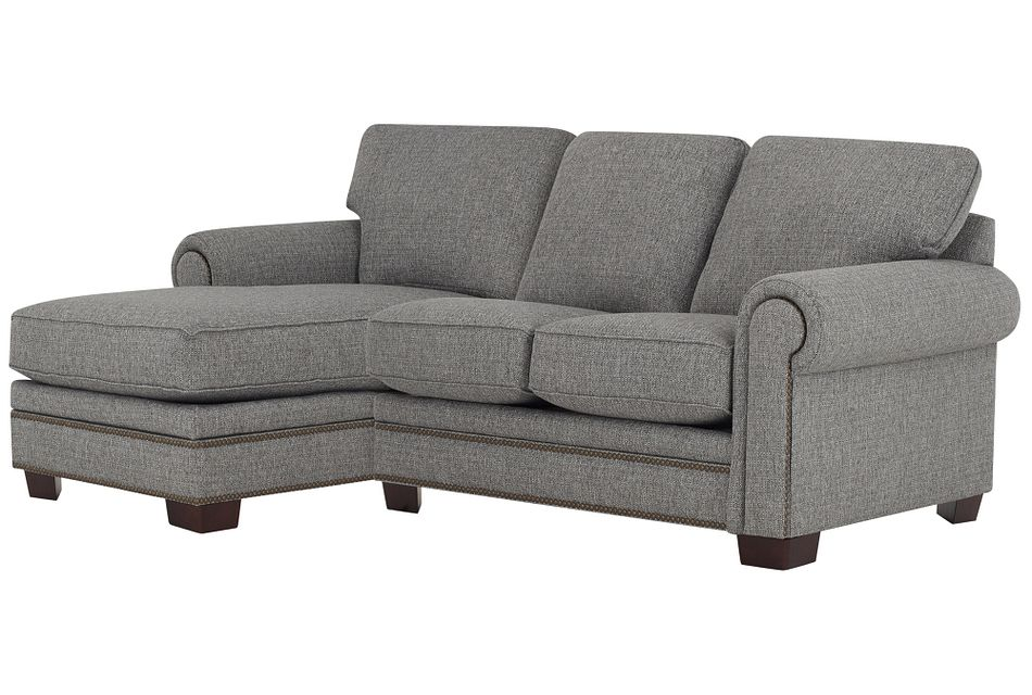 Foster Gray Fabric Left Chaise Sectional