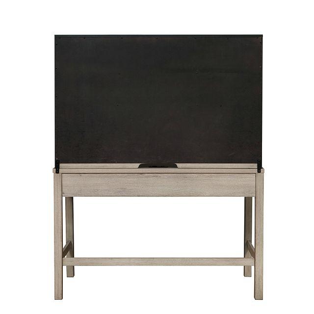 Rivercreek Gray Wood Desk And Hutch (2)