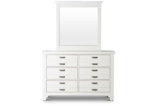 Bungalow Ivory Dresser & Mirror