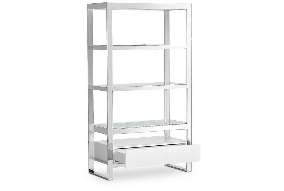 Miami White Open Bookcase