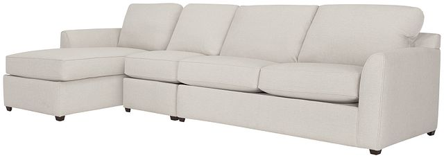 Asheville Light Taupe Fabric Small Left Chaise Sectional (0)