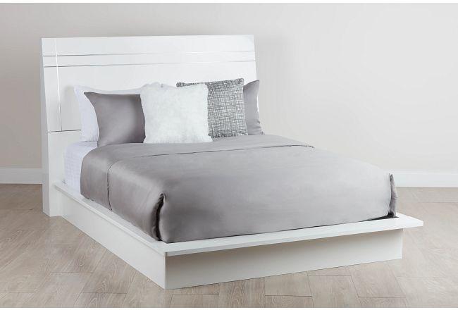 Dimora White Wood Platform Bed