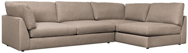 Harper Dark Taupe Fabric Small Left Arm Sectional (0)