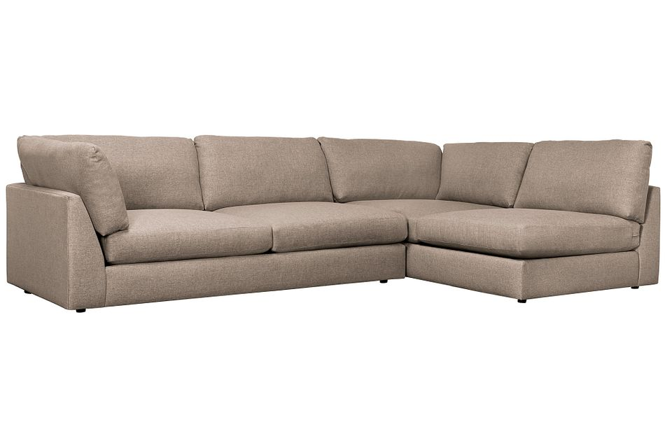 Harper Dark Taupe Fabric Small Left Arm Sectional