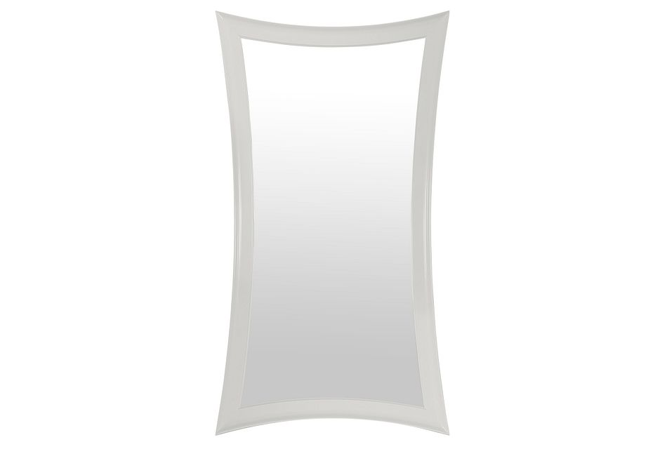 Brielle White  Floor Mirror