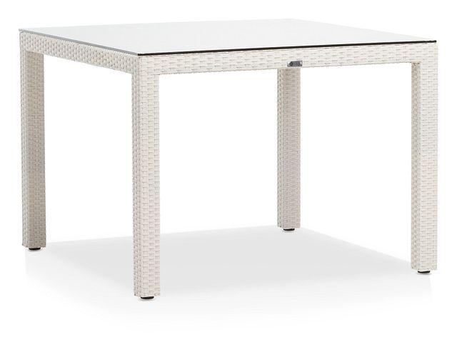 """Bahia White 40"""" Square Table (2)"""