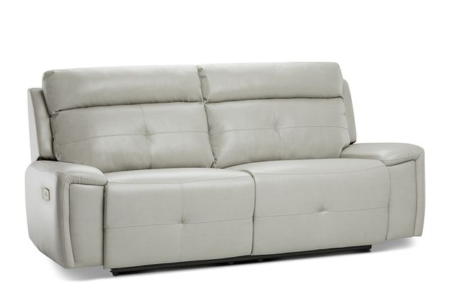 Chandler Light Gray Micro Power Reclining Sofa