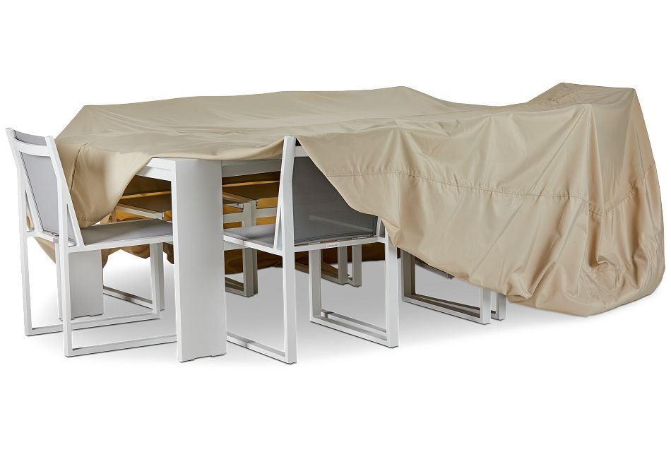 Product Name Khaki Large Table & 4 Chairs Outdoor Cover, %%bed_Size%% (3)
