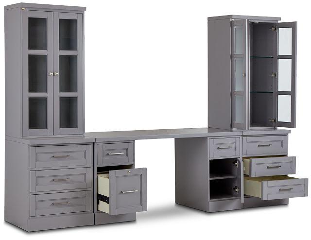 Newport Gray Drawer Wall Desk