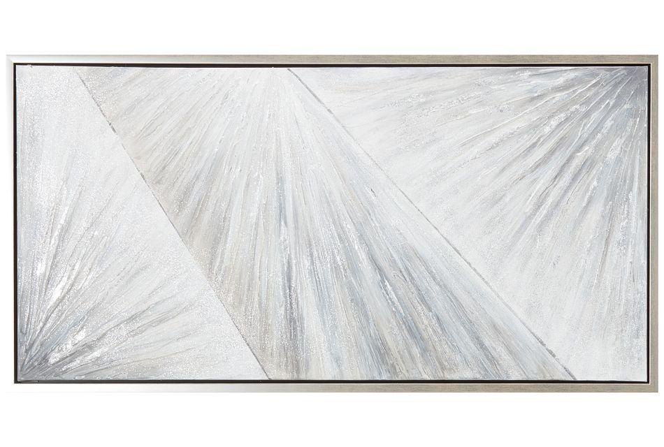 Jewel Light Blue Framed Canvas Wall Art