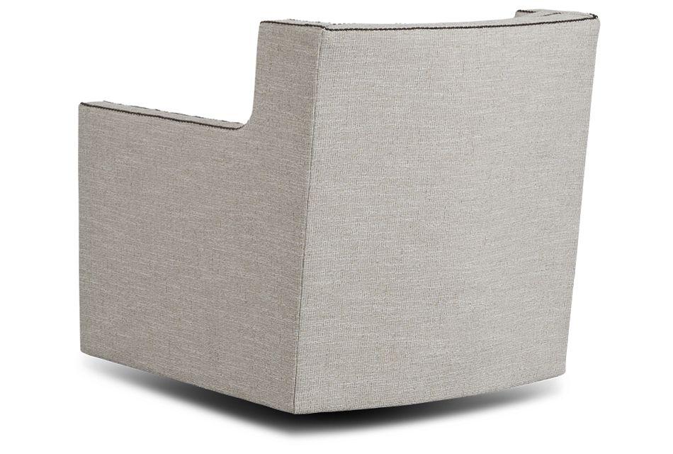 Candace Beige Fabric Swivel Chair