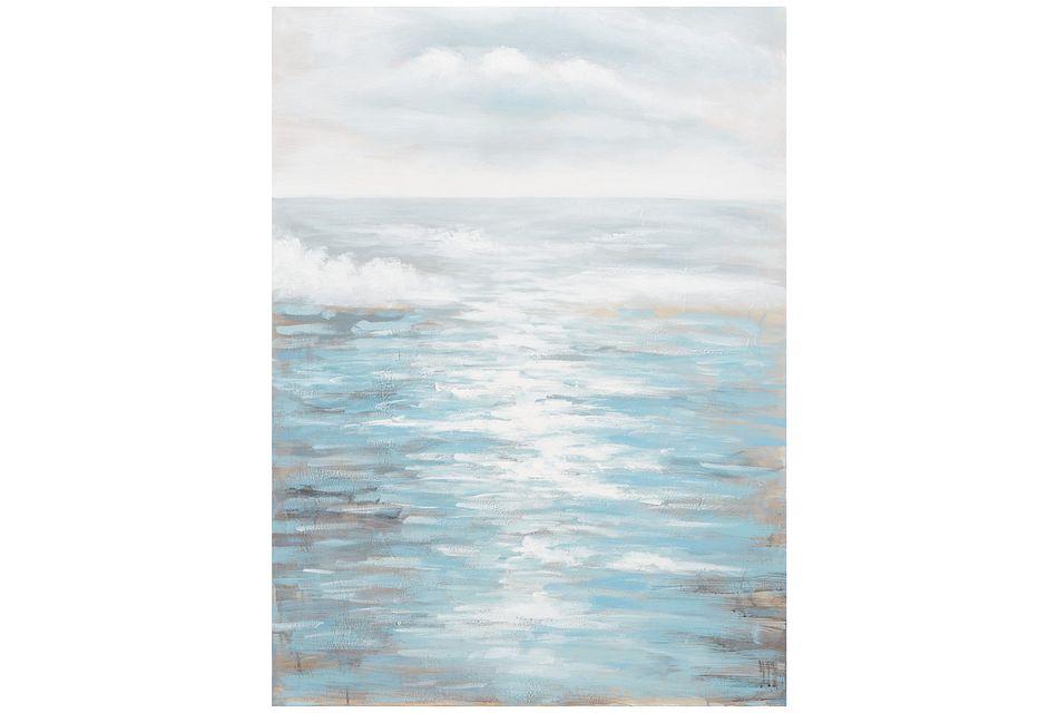 Seaside Light Blue   Canvas Wall Art,  (0)