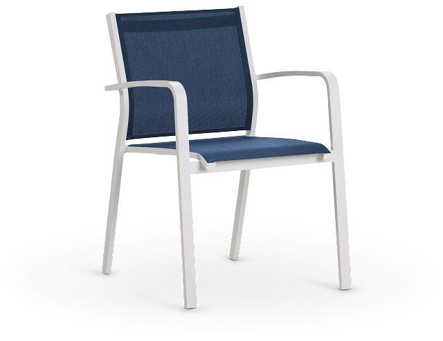 Lisbon Navy Sling Chair (1)