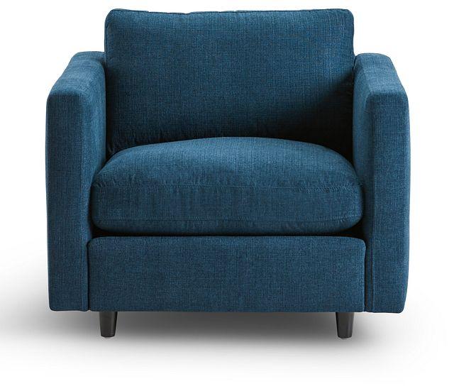 Simone Dark Blue Fabric Chair (3)