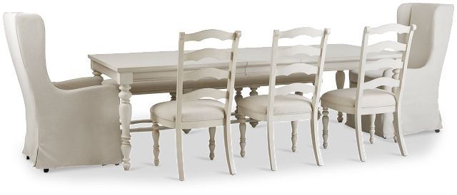 Savannah Ivory Rectangular Table And Mixed Chairs