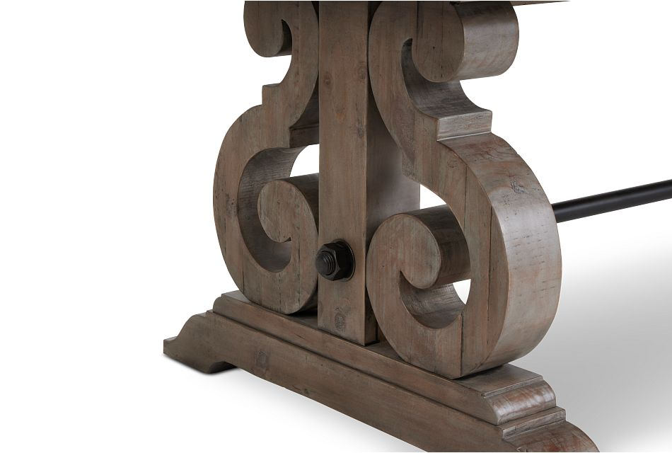 Sonoma Light Tone Trestle Table