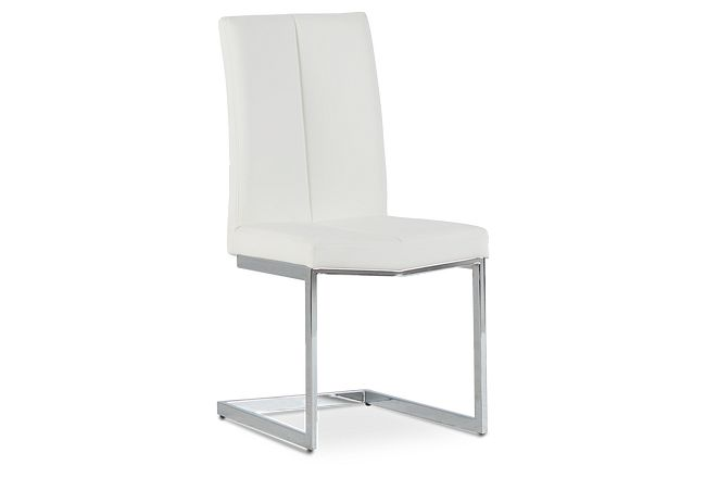 London White Upholstered Side Chair