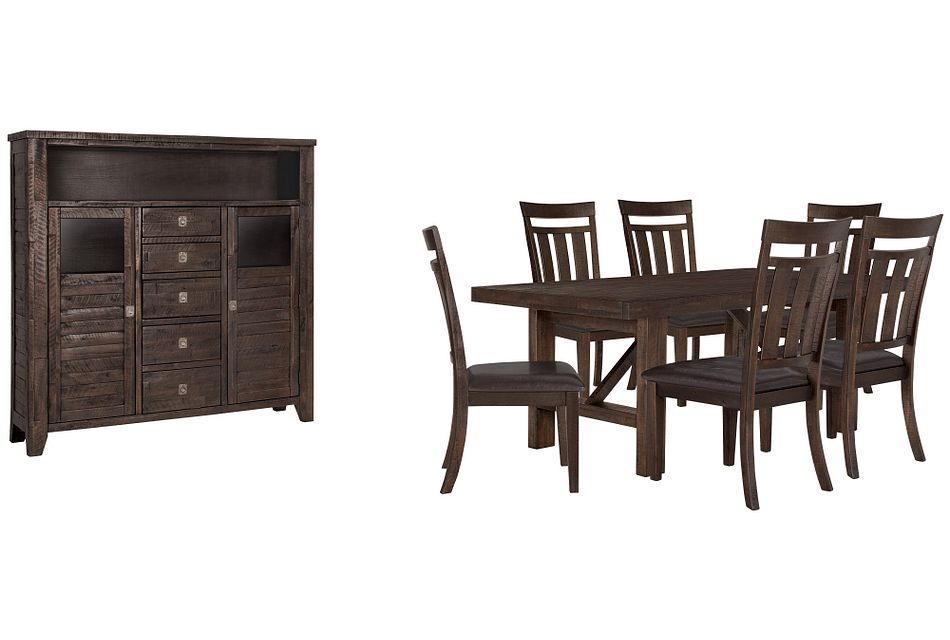Kona Grove Dark Tone Rect Large Dining Room