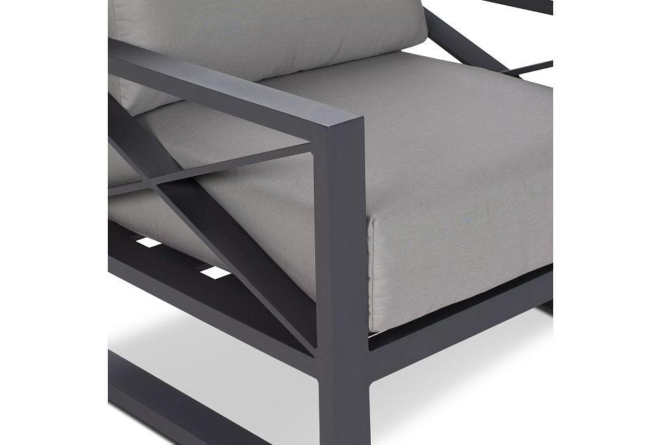 Linear Dark Gray Aluminum Chair
