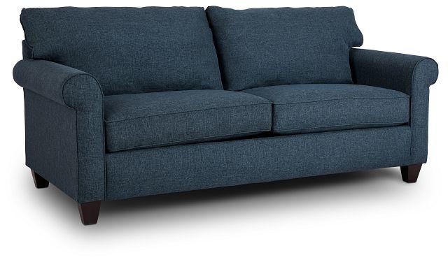 Cameron Blue Fabric Innerspring Sleeper (2)