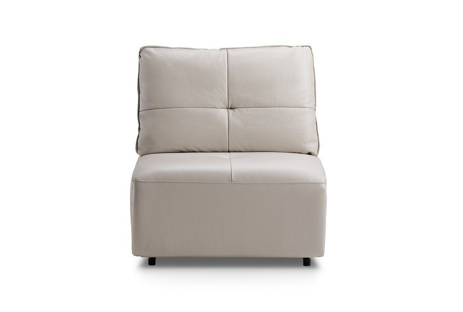 Trice Taupe Lthr/vinyl Armless Chair,  (1)