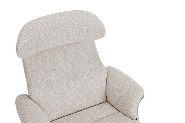 Liv Beige Fabric Swivel Recliner