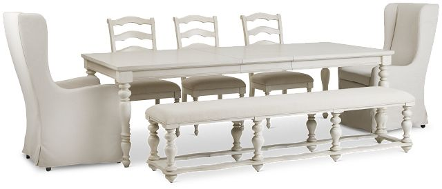 Savannah Ivory Rectangular Table And Mixed Chairs (1)