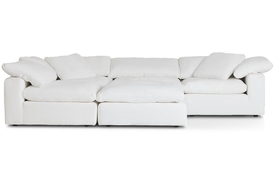 Nixon White Fabric Sectional,  (3)
