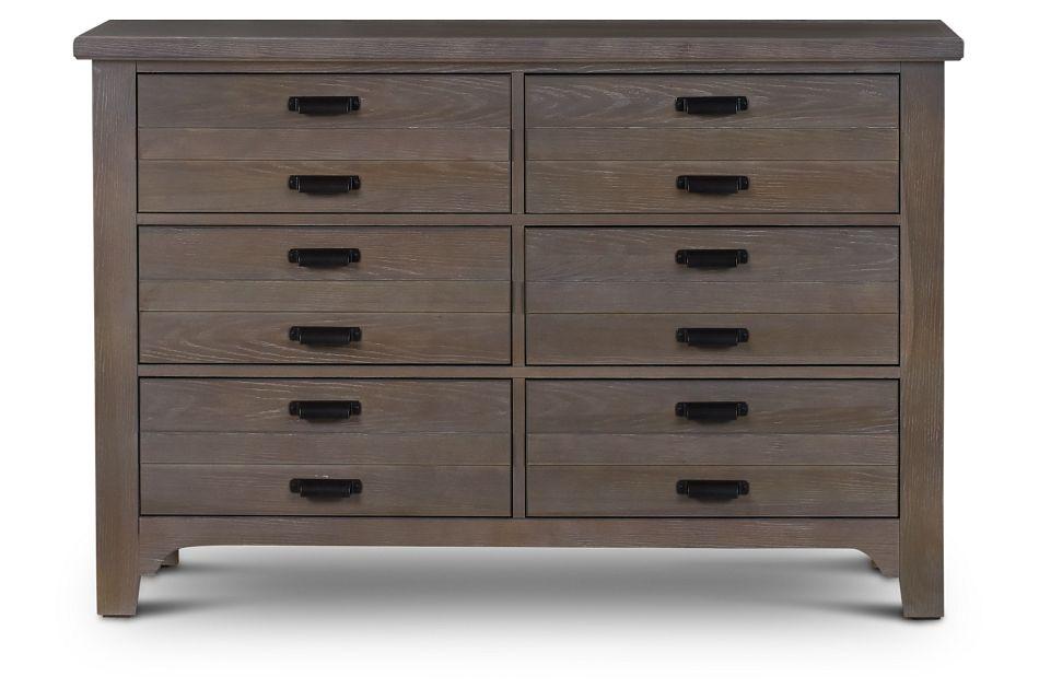Bungalow Mid Tone 6-drawer Dresser,  (1)