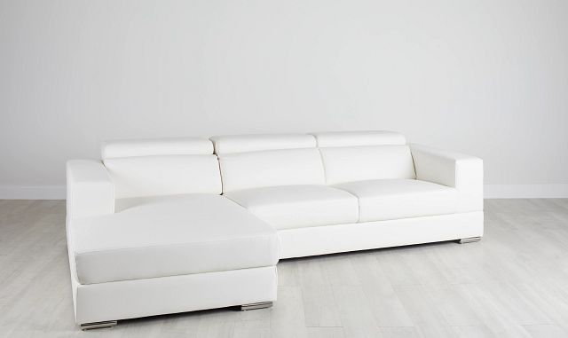 Maxwell White Micro Left Chaise Sectional (0)