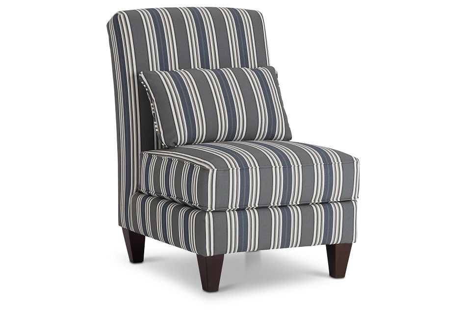 Amuse Blue Stripe Accent Chair